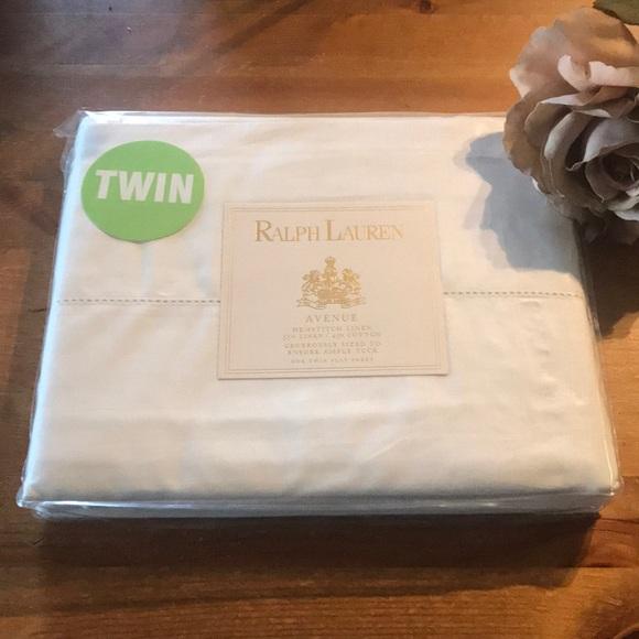 Ralph Lauren avenue twin flat sheet new